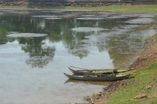 Rowing boats in the East Baray in Angkor